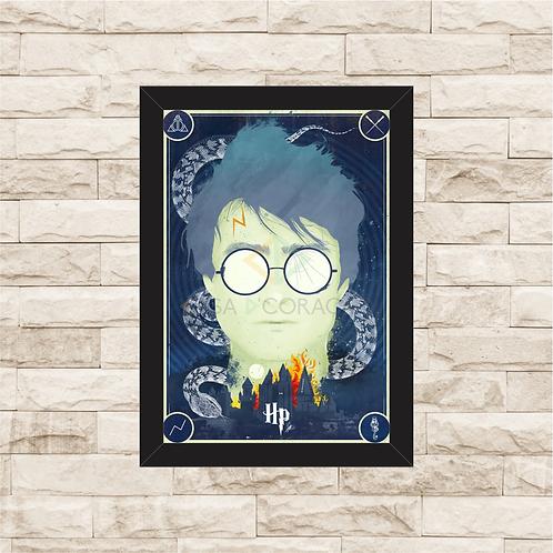 1215 - Quadro com moldura Harry Potter