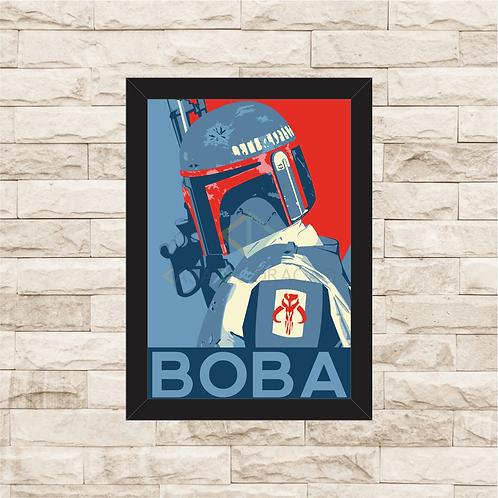 1777 - Quadro com moldura Star Wars - Boba Fett