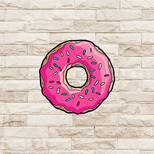 30023 - Placa Decorativa - Donut Simpsons