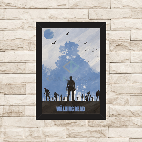 1084 - Quadro com moldura The Walking Dead