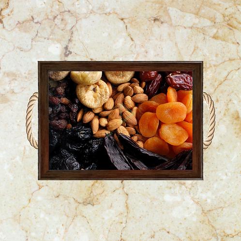 10034 - Bandeja Decorativa - Frutas Secas e Amêndoas