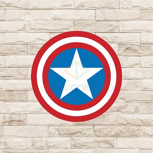 30019 - Placa Decorativa - Escudo Capitão América