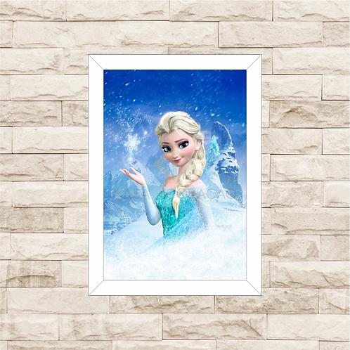 4149 - Quadro com moldura Frozen - Elsa