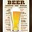 Thumbnail: 6064 - Quadro com moldura Como Pedir Cerveja Pelo Mundo
