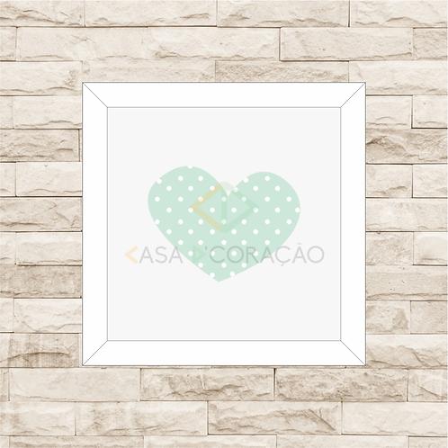 4038 D - Quadro com moldura Coração - Verde