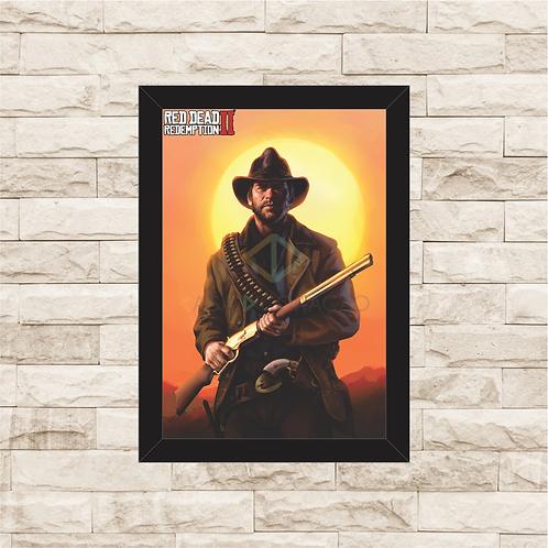 1795 - Quadro com moldura Red Dead Redemption 2