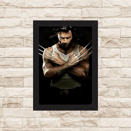 1386 - Quadro com moldura X-Men - Wolverine