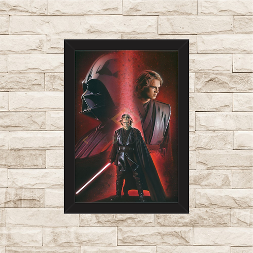 1300 - Quadro com moldura Star Wars - Darth Vader
