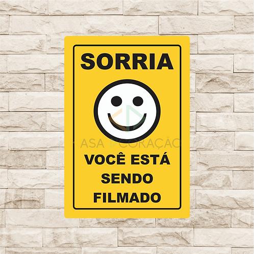 30033 - Placa Decorativa - Sorria, Você está Sendo Filmado