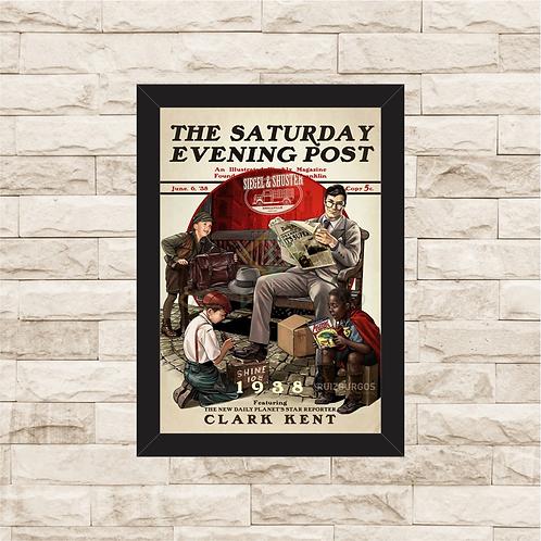 1204 - Quadro com moldura Clark Kent