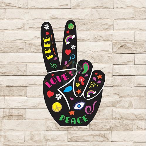 30107 - Placa Decorativa - Paz & Amor