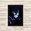 Thumbnail: 1393 - Quadro com moldura Mulher Gato