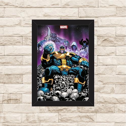 1162 - Quadro com moldura Thanos