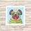 Thumbnail: 8001 - Quadro com moldura Pug