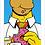 Thumbnail: 1071 - Quadro com moldura Simpsons - Homer Donut