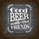 Thumbnail: 6042 - Quadro com moldura Good Beer With The Friends