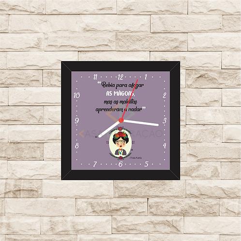 9028 - Relógio com moldura Frida Khalo