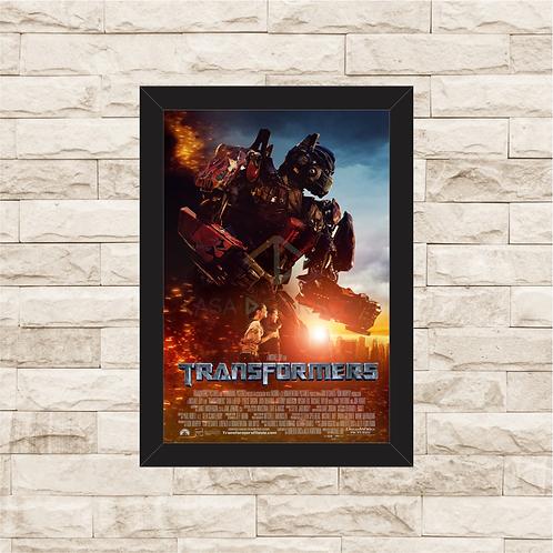 1641 - Quadro com moldura Transformers