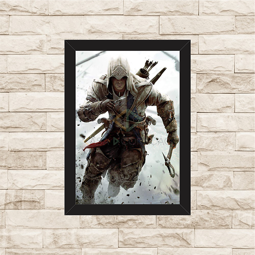 1749 - Quadro com moldura Assassin's Creed