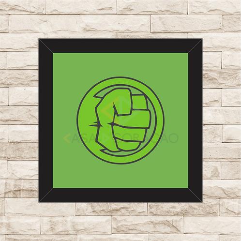1234 - Quadro com moldura Hulk Logo