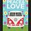 Thumbnail: 6053 - Quadro com moldura Paz & Amor
