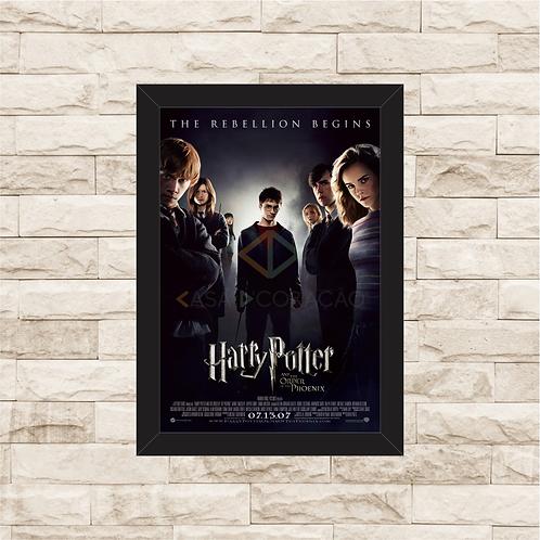 1317 - Quadro com moldura Harry Potter e a Ordem da Fênix