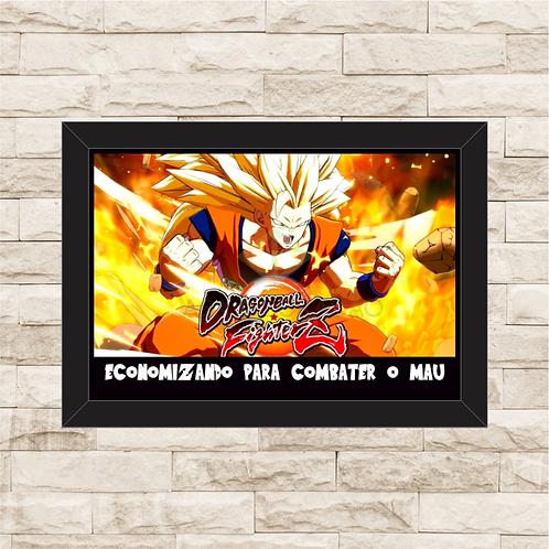 005 - Quadro para guardar dinheiro - Para o Combater o Mau - Dragon Ball Z