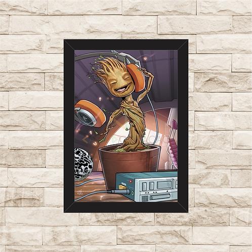 1174 - Quadro com moldura Guardiões da Galáxia - Groot