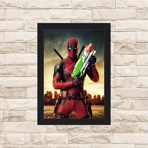 1354 - Quadro com moldura Deadpool