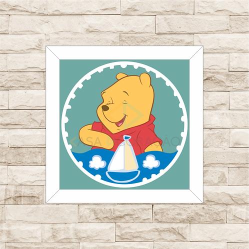 4089 - Quadro com moldura Ursinho Pooh