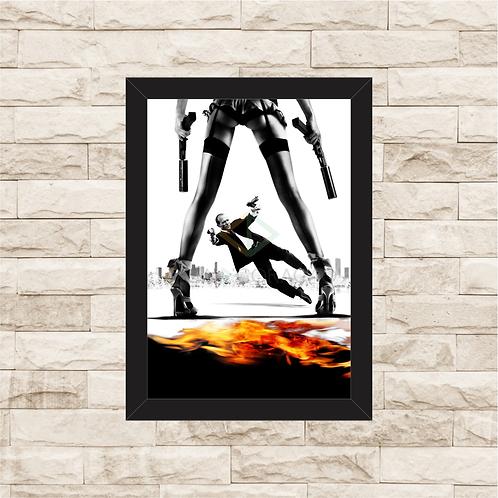 1645 - Quadro com moldura Carga Explosiva