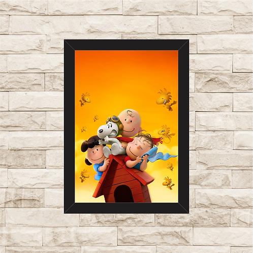 1686 - Quadro com moldura Snoopy e Charlie Brown