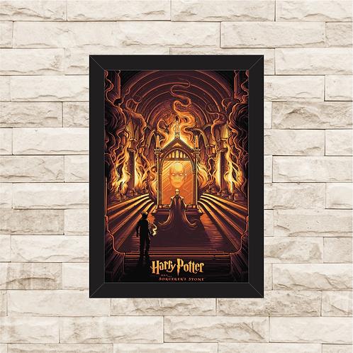 1248 - Quadro com moldura Harry Potter e a Câmara Secreta