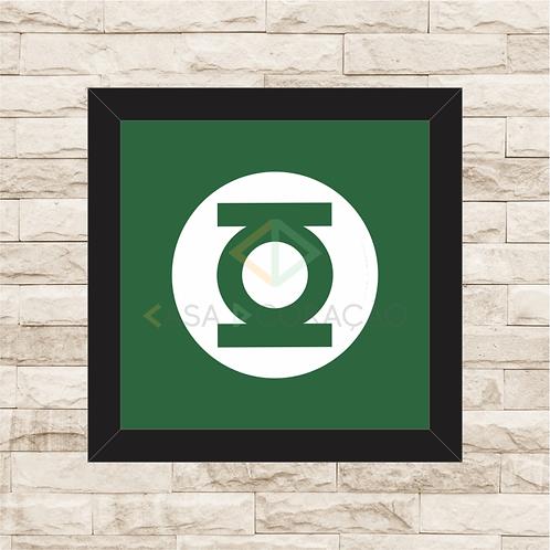 1229 - Quadro com moldura Lanterna Verde Logo