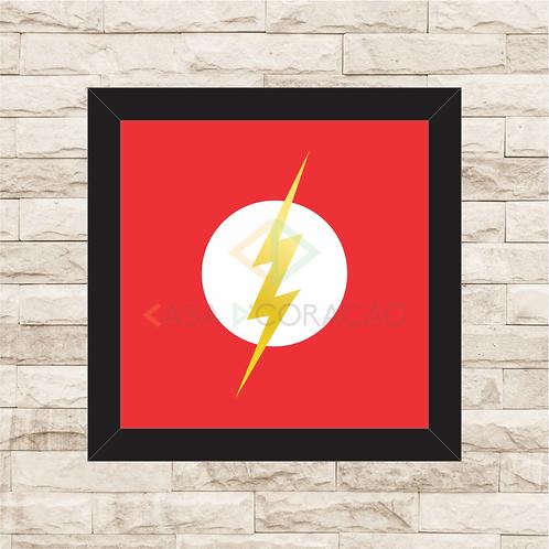 Quadro com moldura Flash Logo