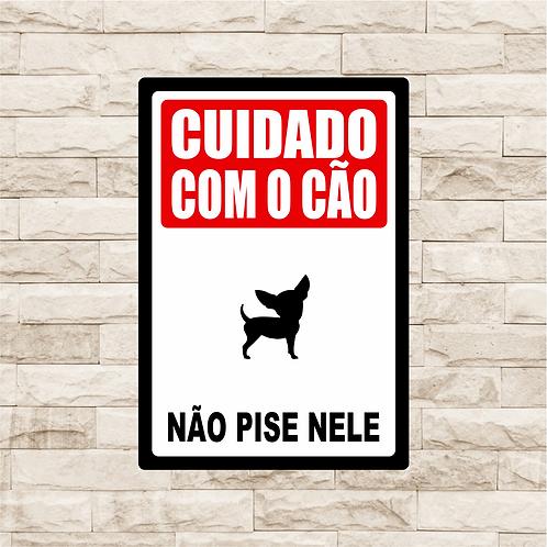 30128 - Placa Decorativa - Cuidado com o Cão