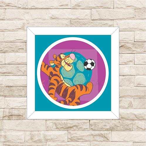 4093 - Quadro com moldura Ursinho Pooh - Tigrão