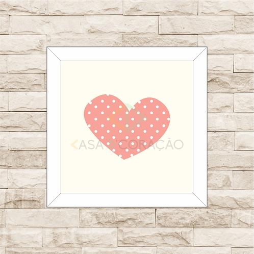 4039 D - Quadro com moldura Coração - Rosa