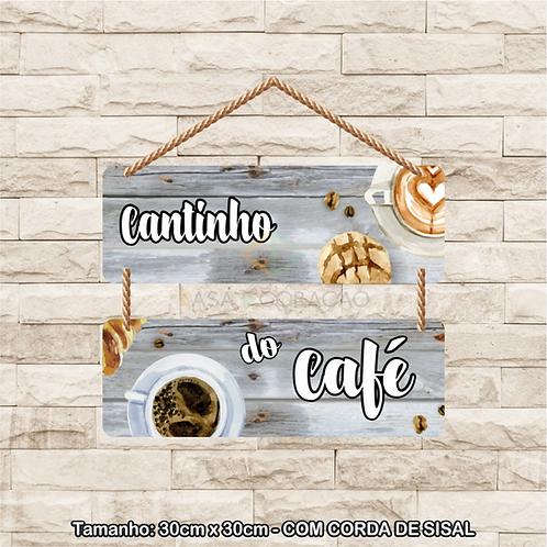 30112 - Placa Decorativa - Cantinho do Café