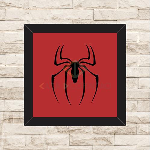 1231 - Quadro com moldura Homem Aranha Logo
