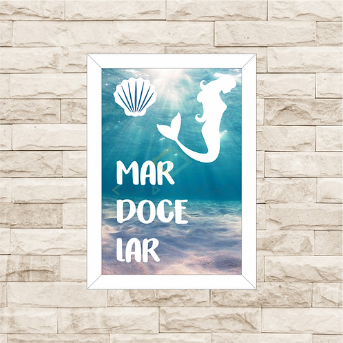 100 - Quadro para guardar conchas - Mar Doce Lar