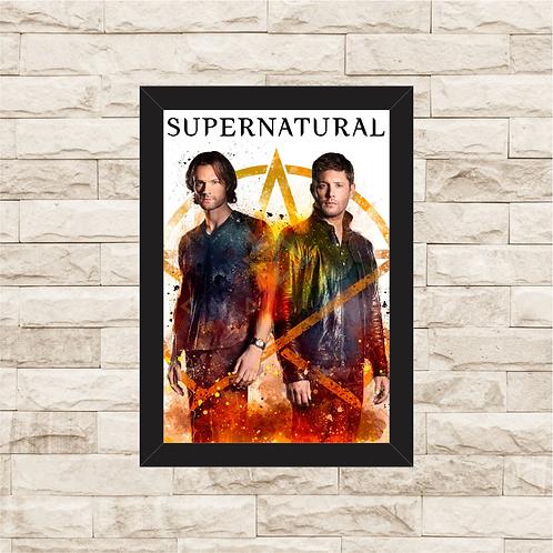 1178 - Quadro com moldura Supernatural - Sam e Dean