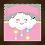 Thumbnail: 4143 - Quadro com moldura Nuvem - Rosa