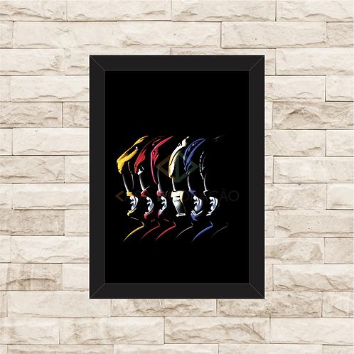 1584 - Quadro com moldura Power Rangers