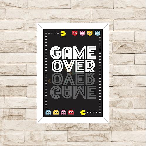 6006 - Quadro com moldura Game Over