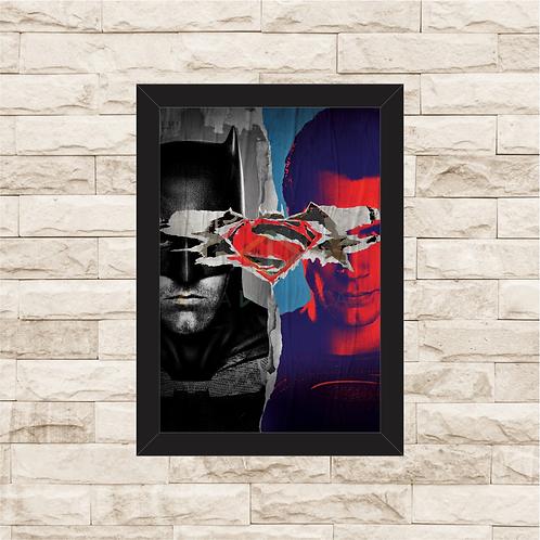 1406 - Quadro com moldura Batman vs Superman