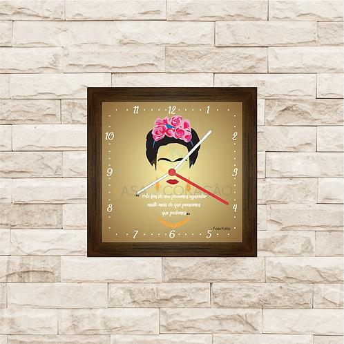 9029 - Relógio com moldura Frida Khalo