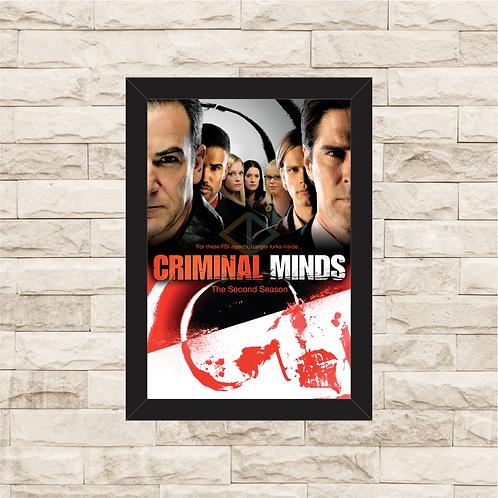 1330 - Quadro com moldura Criminal Minds