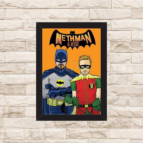 1270 - Quadro com moldura Breaking Bad - Methman e Jesse