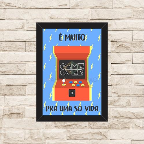6280 - Quadro com moldura Game Over